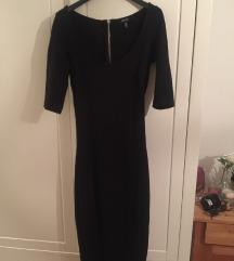 Crna slim MID haljina