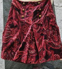 Karen Millen A Line Velvet  Skirt /suknja