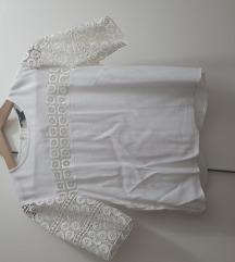 H&M čipkasta bijela bluzica