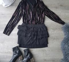 Nova suknja s volanima i čipkom