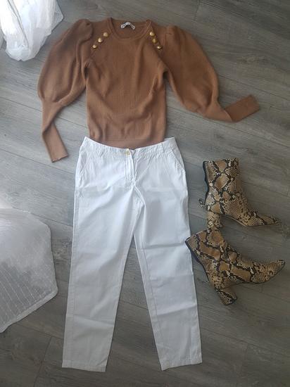 Bijele Mango hlače