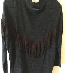 Zanimljiva Zara majica s resicama, S
