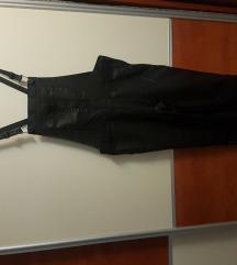 Crne hlače s tregerima
