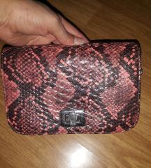 Zara kožna crvena torbica