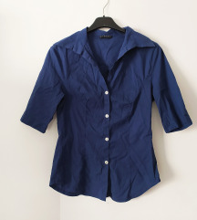 Sisley tamnoplava vintage košulja