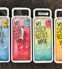 SCINIC Lot 4 Juicy Bottle sheet masks
