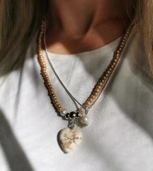 Novo! Lančić kameno srce ✨💛