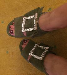 Nove kožne natikače sandale Guliver 41