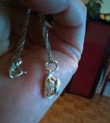 Ogrlica srebro i privjesak 925