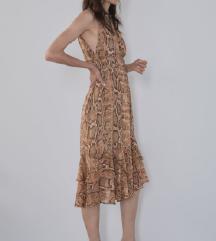Zara midi haljina zmijski L