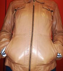 Smeđa kožna jakna 90 kuna zajedno s troškovima