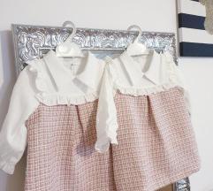 2 haljinice za blizanke vel.80