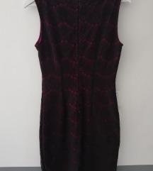 Ljubičasto-crna čipkasta Orsay haljina