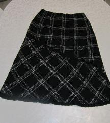 Karirana crna zimska suknja