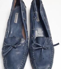Plave mokasinke loaferice lakirana koža 38