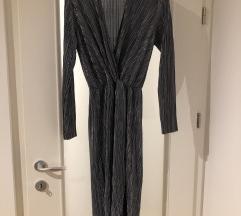Vila srebrna koktel  haljina
