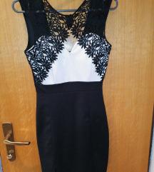 Crno bijela mini haljina