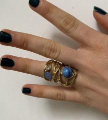 Zlatno tirkizni prsten