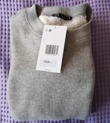 Zara contrast sweatshirt siva novo