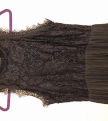 Nova crna plisirana haljina H&M,