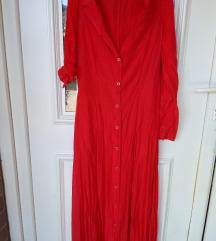 Crvena maxi haljina