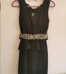 Crna haljina sa masnom
