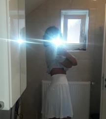 H&M bijela basic ljetna suknja