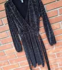 Asos crno zlatna haljina