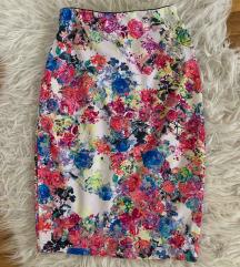 Cvjetna uska suknja