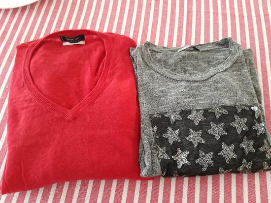 2 duge majice Zara i Mango