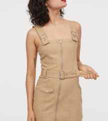 H&M bež haljina na tregere