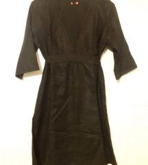 Crna na vezanje haljina ili tunika nosena 2puta L