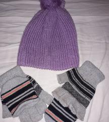 Kapa lila i rukavice bez prstiju lot