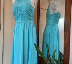 Duga haljina tirkizna