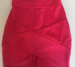 Roza bandage suknja - NOVO