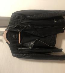 Zara kožna biker jakna