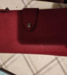 Bordo crveni novčanik