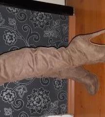 Bež čizme iznad koljena
