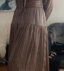 Zara duga haljina s metaliziranim nitima