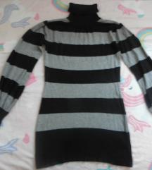 pleteni dugi pulover