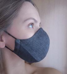 Maska Black Greyhood troslojna ŽENSKA