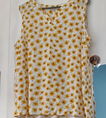 Bluza sa čipkom i suncokretima L / XL