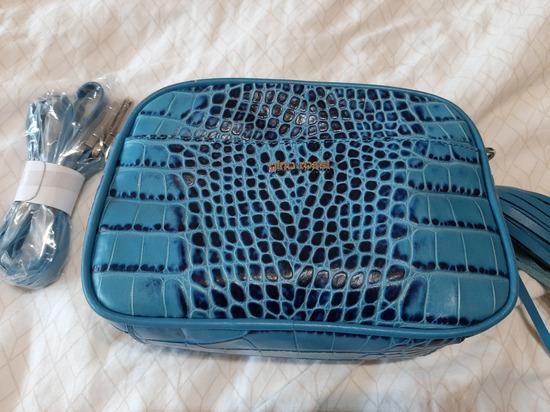 Nenošena Gino Rossi plava kožna torba