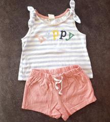 H&M komplet za bebe djevojčice 68