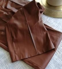 Sisley cropped hlače- imitacija kože *NOVO*