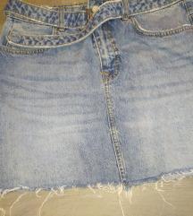Zara mini jeans suknja