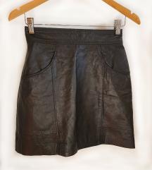 FERETTI suknja 100% koža