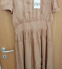 Zara haljina sa puf rukavima, vel L