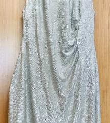 Koktel haljina srebrna