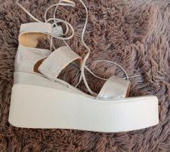 Srebrne sandale na petu  AKCIJAAA!!! 150